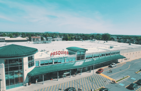 Vue aérienne du bâtiment Pasquier