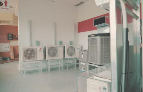 Salle de montre d'unité de climatisation